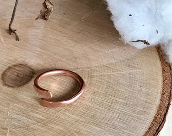 Copper ring // ring // adjustable ring