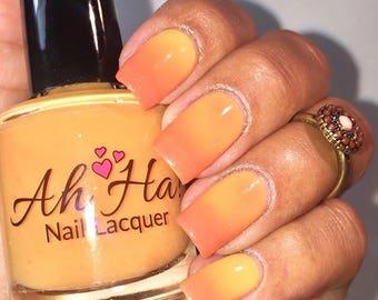 Orange to Yellow Thermal Changing Nail Polish