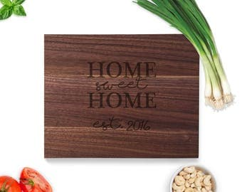 Engraved Cutting Board, Closing gift wood, New home cutting board, Home sweet home cutting board Home Sweet Home, Laser Engraved cutting