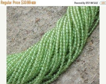 80% SALE Peridot Beads AAA 2.5mm Full Strand Natural stone 13 inches length Finest Quality full Round Diamond Cut Faceted GQB