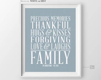 Christmas Decor Gift for Daughter Gift for Son Family Quotes Family Rules Sign Gift for Mom Family Rules Poster House Rules Family Gift