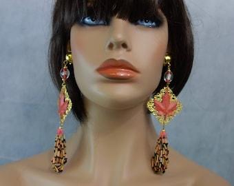 Earrings: Indian summer.