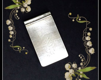 Vintage Finnish silverplated Art Deco  notepad cover
