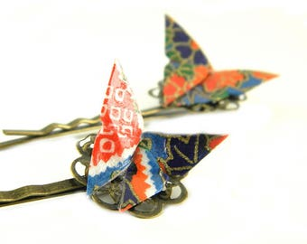 Origami barrettes Butterfly