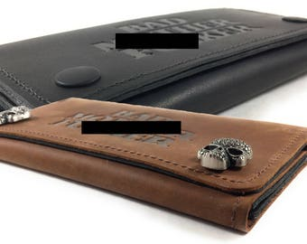 Mature, Bad Mother F*cker, Mens Deluxe Trifold Wallet, Apple iPhone 6s, 7 & 8 Carrier, Genuine Leather, Made in the USA