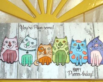 Greeting card/cats card/birthday card