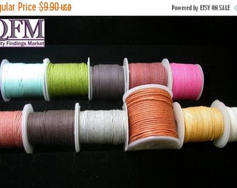 ON SALE 200 meters of Cotton cord Multipurpose (8 spools of 25 meters each) made in India Sizes available: 0.5mm & 1.0mm -
