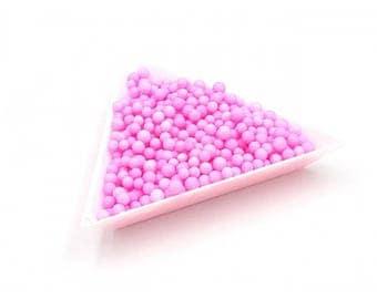 5000 color 3mm polystyrene balls pink
