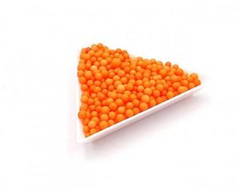 orange 5000 polystyrene color 3mm beads