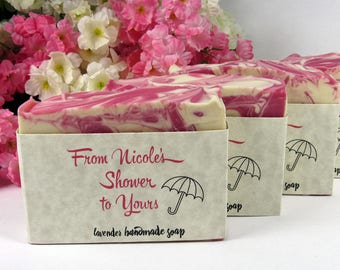 Soap Shower Favors - Baby Shower Favor - Bridal Shower Soap - Customized - From My Shower to Yours - Goat Milk Soap, Vegan Soap - Wedding