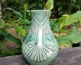 Carved Floral Vase