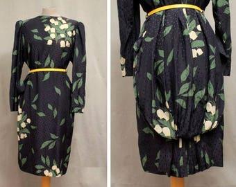 Collector - Akris 1980's Floral Silk Dress #1257