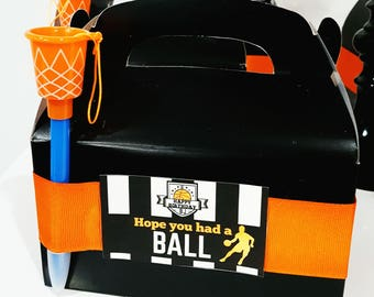 Basketball Birthday Party Favor Tags - Basketball Party Favor Tags *INSTANT DOWNLOAD*