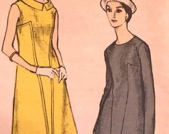 Vintage 1960's A-Line Dress---Vogue 6419---Size 12  Bust 32  UNCUT