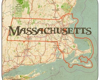 Massachusetts Coasters & Other Merchandise