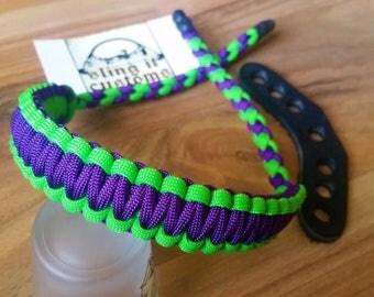 Bow Wrist Sling - Cobra Weave - Archery - Paracord - You Pick Colors!