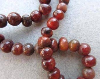 Round Carnelian Stone Beads [66677]