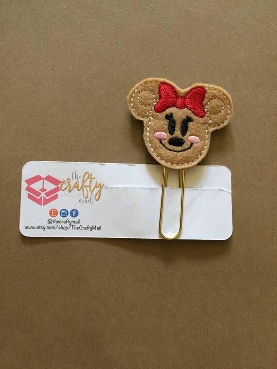 Ginger Mouse planner Clip/Planner Clip/Bookmark. Gingerbread Planner Clip. Ginger Girl Planner Clip. Christmas Planner Clip