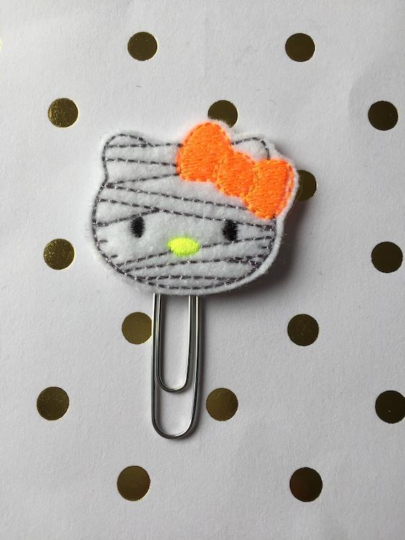 Mummy Kitty planner Clip/Planner Clip/Bookmark. Holiday Planner Clip. Halloween planner clip. Mummy planner clip. Kitty planner clip