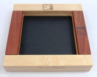 Zucati Dice Base 2™:  Premium  Rolling System - White Maple - Bloodwood