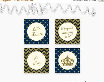 20% OFF Royal Cupcake Toppers , Prince Cupcake Toppers , Prince Baby Shower Tags , Royal Baby Shower Tags, Printable , Instant Download