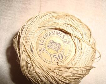 Pincushion linen No. 50 vintage 6 threads