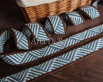 Tablet weaving trim, geometric pattern, viking, medieval, reenactment, sca, larp