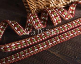 Tablet weaving trim, finnish pattern, viking medieval, reenactment, sca, larp
