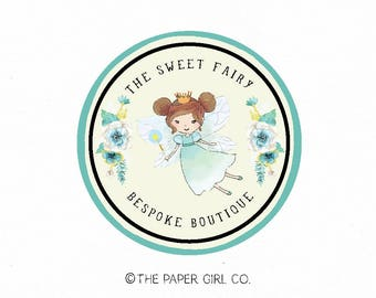 fairy logo princess logo premade logo design baby shop logo children's boutique logo photography logo party planner logo planner shop logo