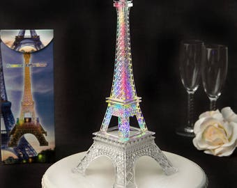 Eiffel Tower Centerpiece with LED Lights-Eiffel Tower Cake Topper-Paris Theme Party-Parisian Party (2301)