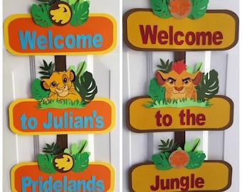 Lion King Door Sign, Lion Guard Door Sign, Simba, Kion, Lion King, Lion Guard