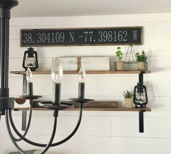 "LATITUDE LONGITUDE coordinates 7""x48"" sign 
