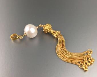 SOLD! Custom Order Available. Pearl Tassel Pendant