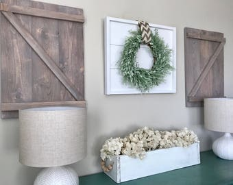 Wood shutters etsy - Decorative interior wall shutters ...