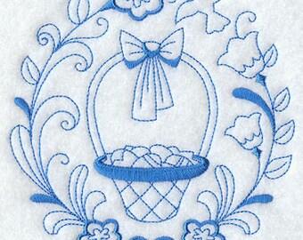 Easter Basket Spring Flour Sack Towel Kitchen
