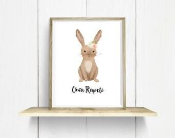Rabbit/ Oma Rapeti Digital Art Print
