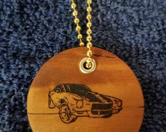 Z28  Cherry wooden keychains