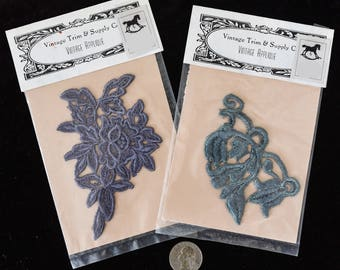Applique - Hand-dyed Lace Trim 4 - 5 in.)
