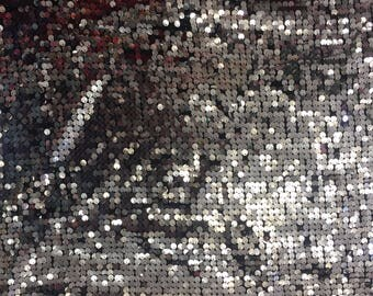9mm Sparkling Sequins Fabric (Silver) by the yard