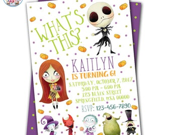 Nightmare Before Christmas Invitations, Nightmare Before Christmas Birthday, Nightmare Before Christmas Party, Halloween