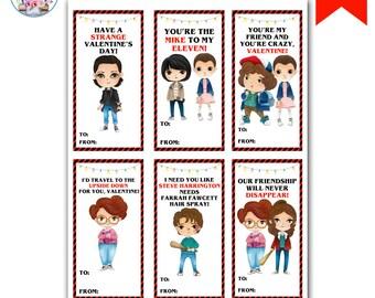 Stranger Valentines, Stranger Kids Valentine's Day Cards