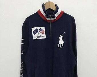 20% OFF Vintage Polo Golf Ralph Lauren U.S Open Sweatshirt Hall Zipper/Polo Ralph Lauren Sweater/Polo Sport/Polo 1992/Polo Rl