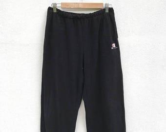 20% OFF Vintage Champion Embroidery Logo Fleece Pants / Champion Big Logo / Champion Tracksuit / Sportwear
