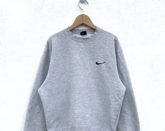 20% OFF Vintage Nike Embroidery Logo/Vintage Nike Baseball Sweatshirt/Nike Sweater/Nike Air Jordan/Nike Oregon