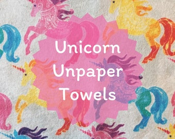 Watercolor Unicorn Unpaper Towels - 8 count