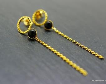 Round earrings, gold earrings