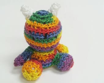 Micro Crochet Rainbow Monster