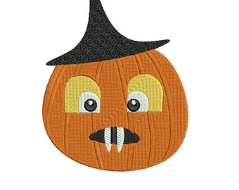 Mr Pumpkin Digital Halloween Embroidery Design,Halloween Character Embroidery,Halloween Pumpkin Embroidery  design 5x7 Machine Embroidery