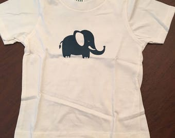 Elephant Organic Cotton Toddler Tee Clothes Custom Screen Printed Tee Organic Tshirt