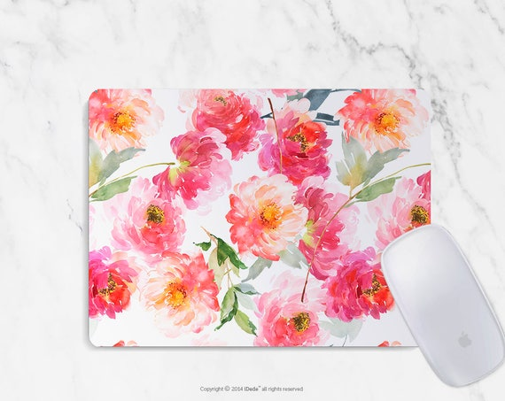 Watercolor Mousepad floral mouse pad Round or Rectangle Mouse pad Beautiful Design Floral Mouse pad Cute gift Mousepad 10